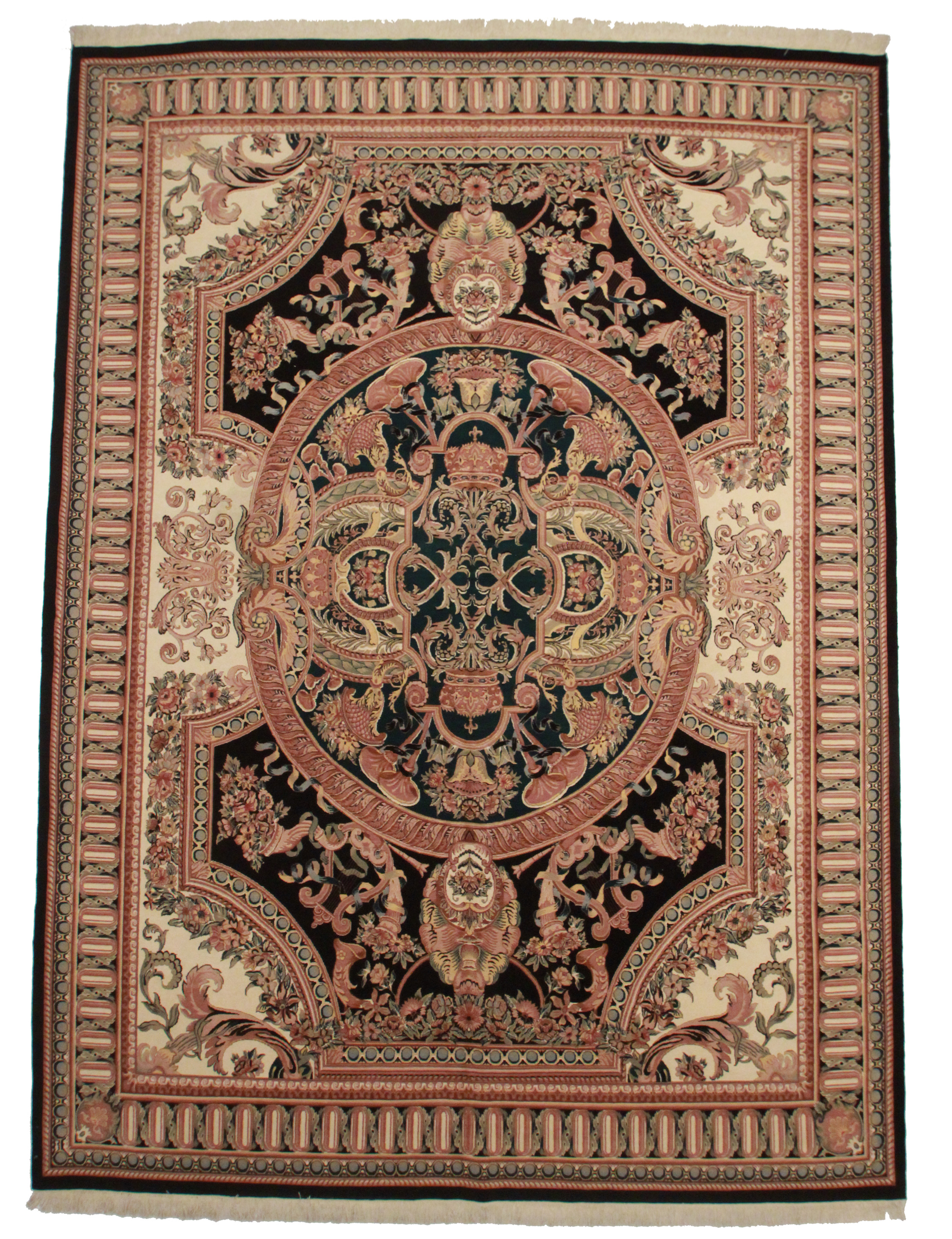 10 1 14 5 Hand Knotted Wool Pakistani Rug With French Design