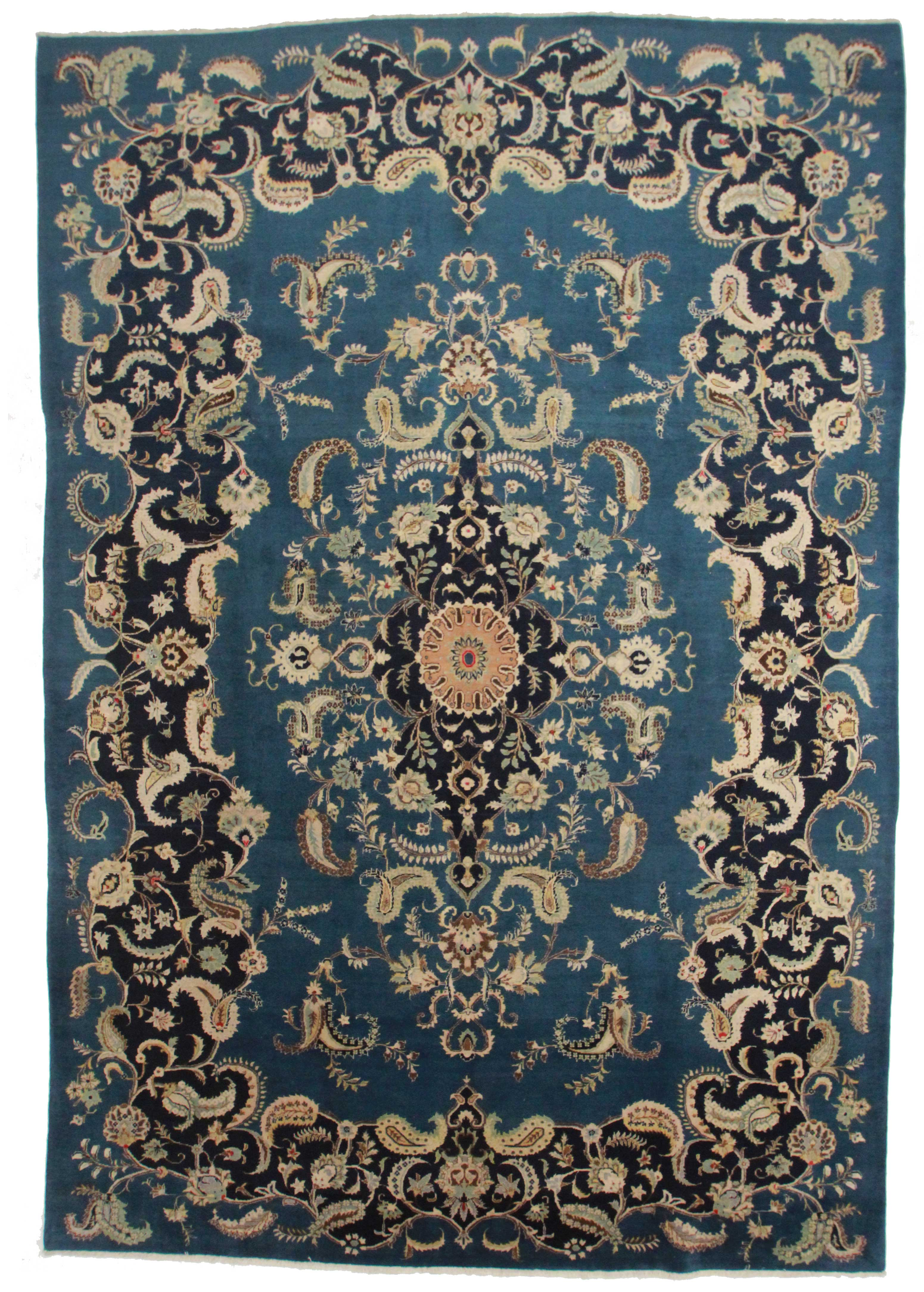 9 5 13 7 Antique Hand Knotted Persian Rug 12086