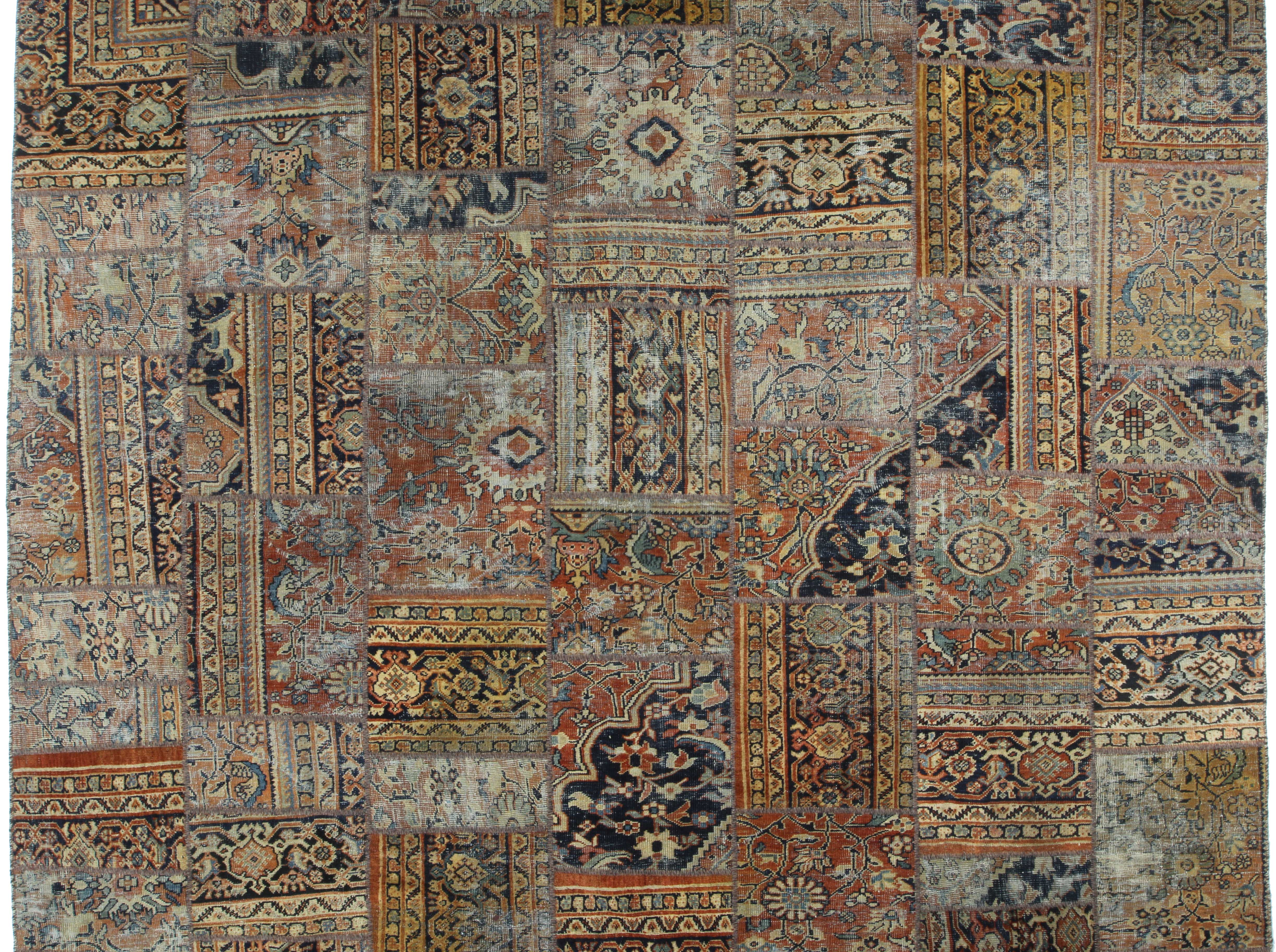 """9'6"""" x 13'2"""" Hand Knotted Wool Persian Mahal Patched Rug H ..."""