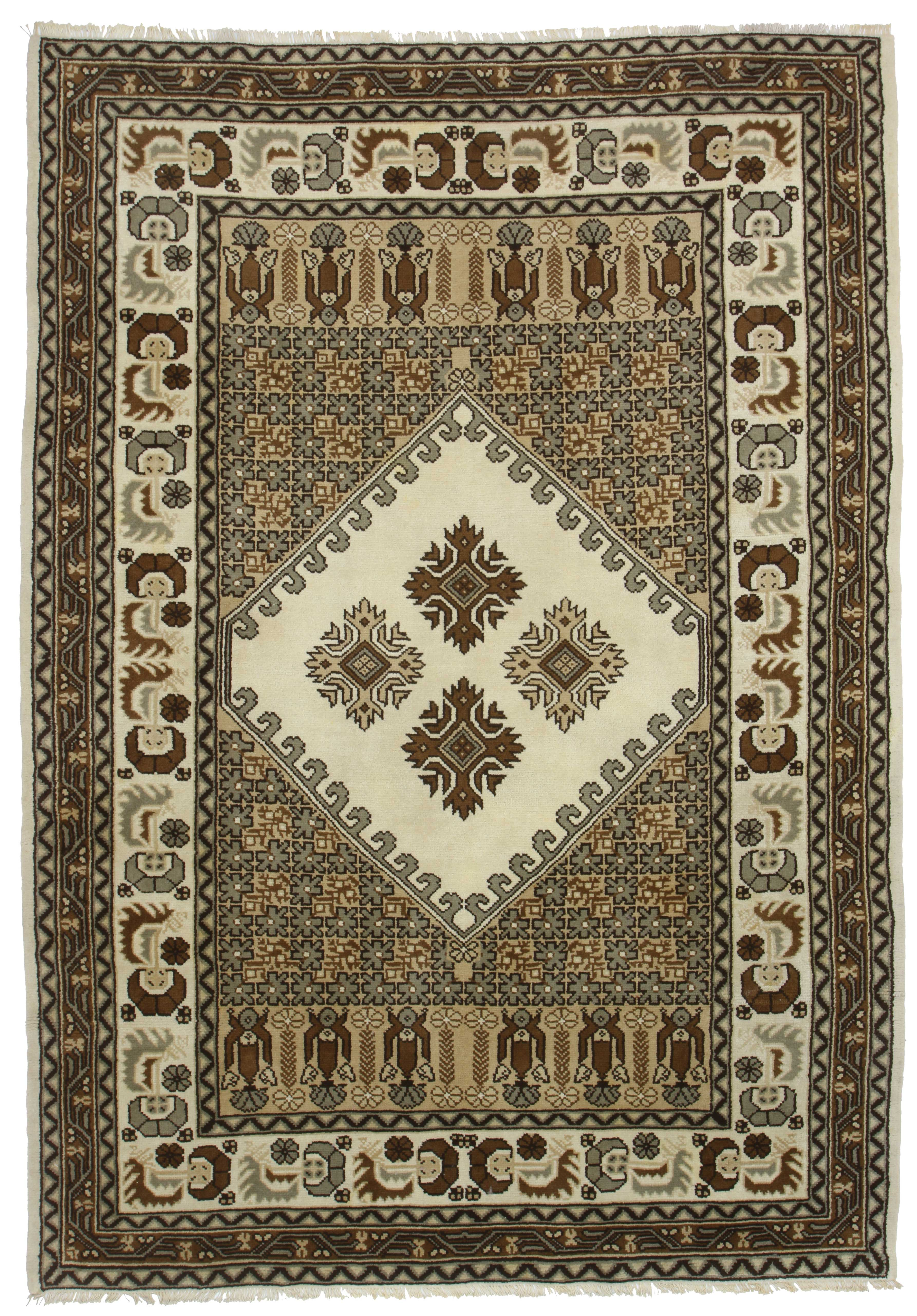 Hand Knotted Wool Moroccan Rug 14233