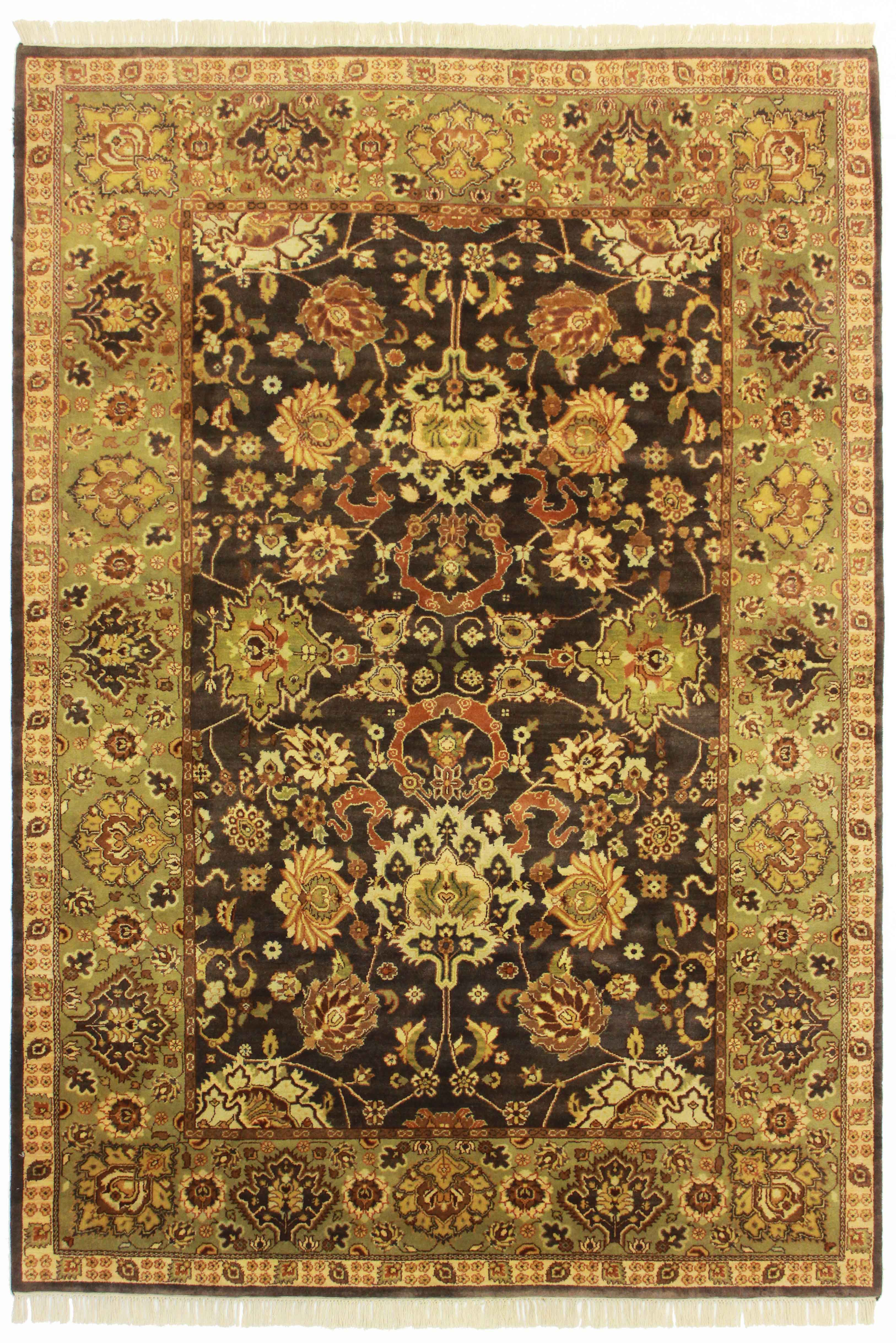 6 X 8 10 Indian Hand Knotted Wool Rug 13023