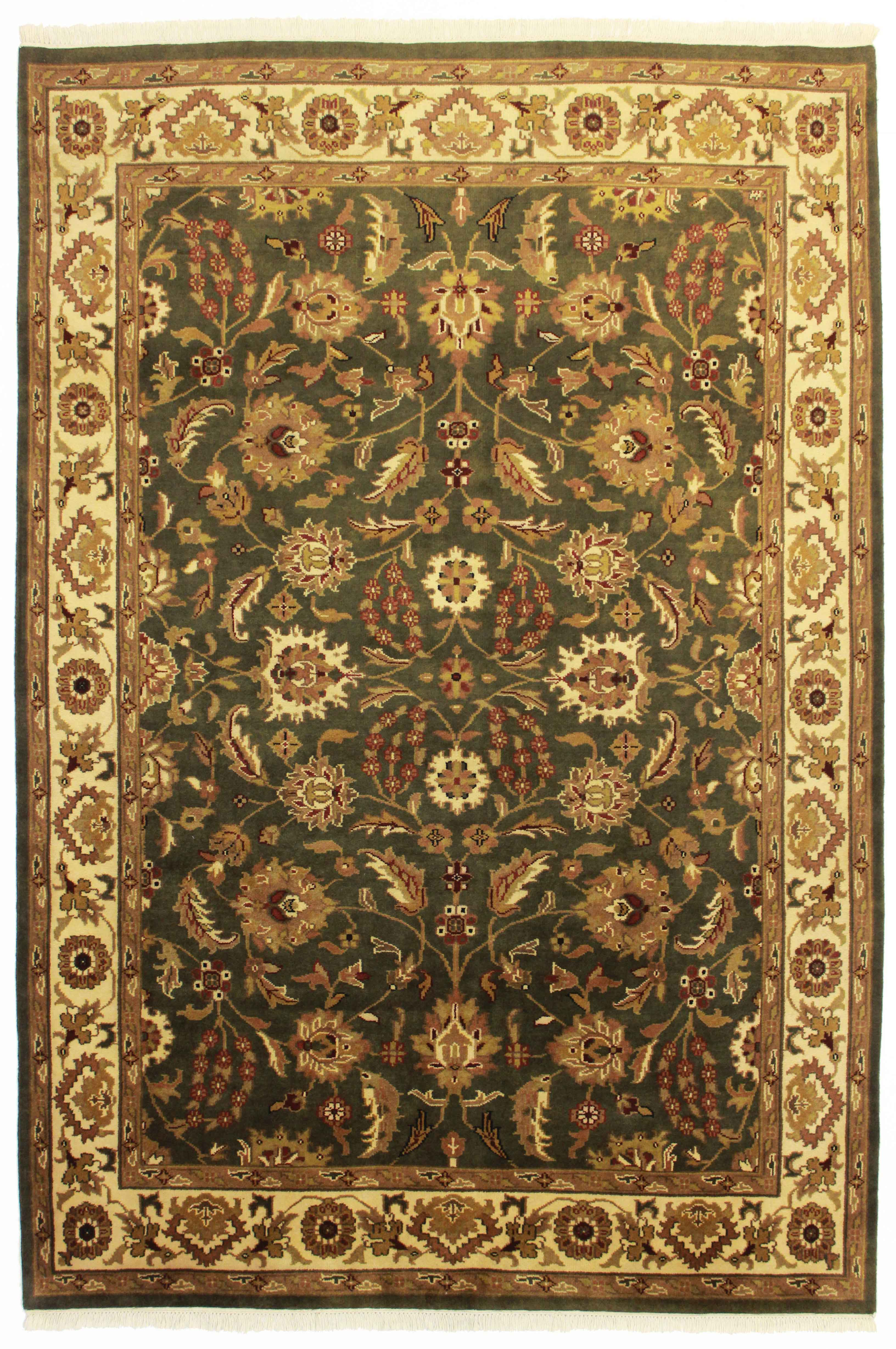 6 1 X 9 Indian Hand Knotted Wool Rug 13166