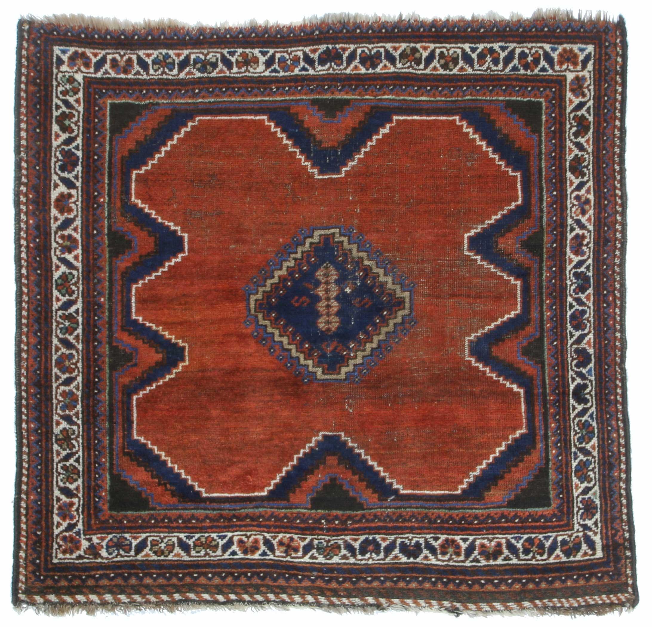 3 9 X 4 Vintage Mid Century Kurdish Persian Hand Knotted Wool Rug
