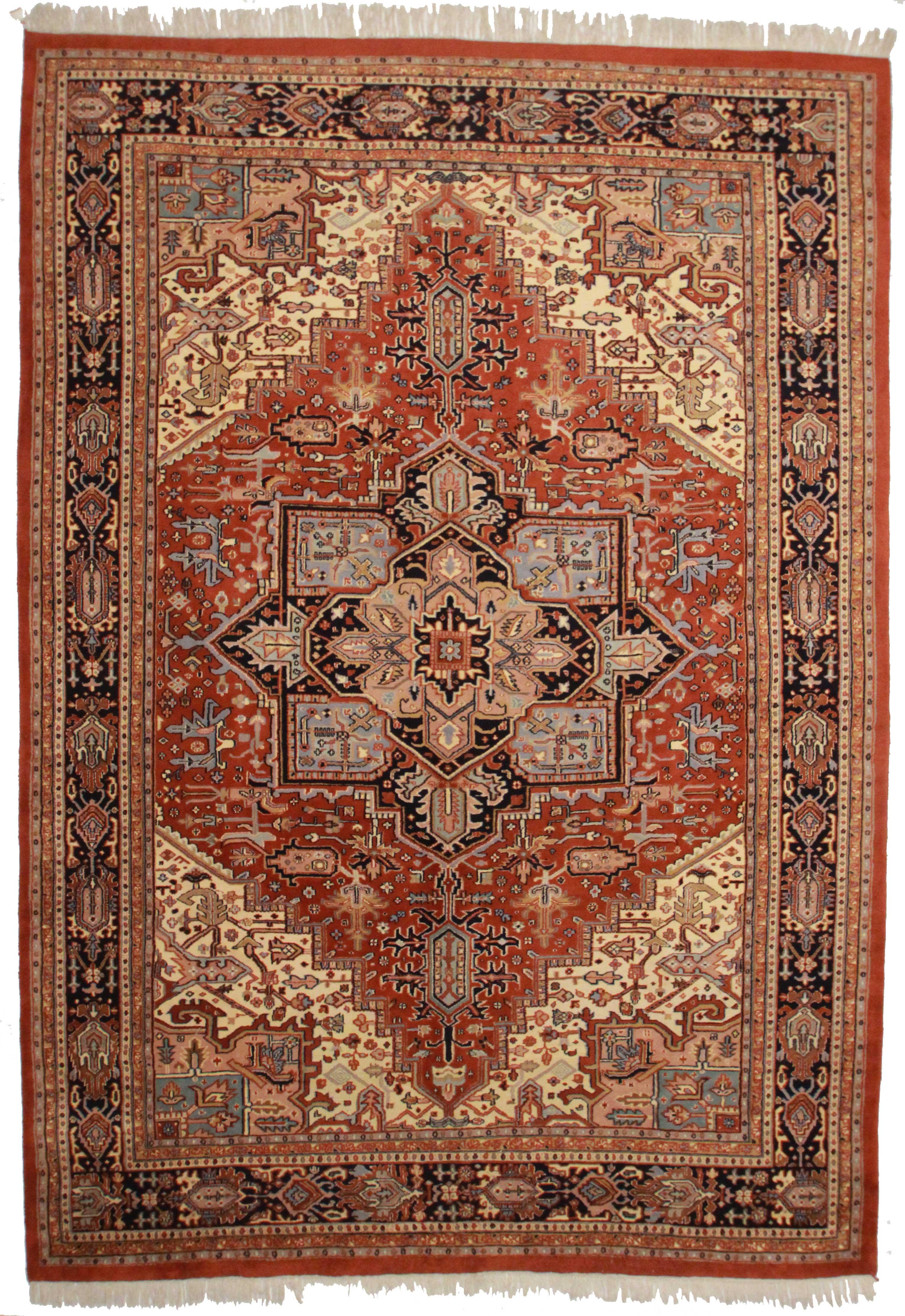 9 11 X 14 4 Vintage Persian Heriz Design Wool Area Rug 9693