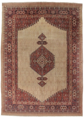 antique persian serab 9 x 12 rug